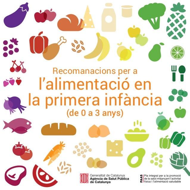 1 Recomanacions per a l'alimentació en la primera infància (de 0 a 3 anys)