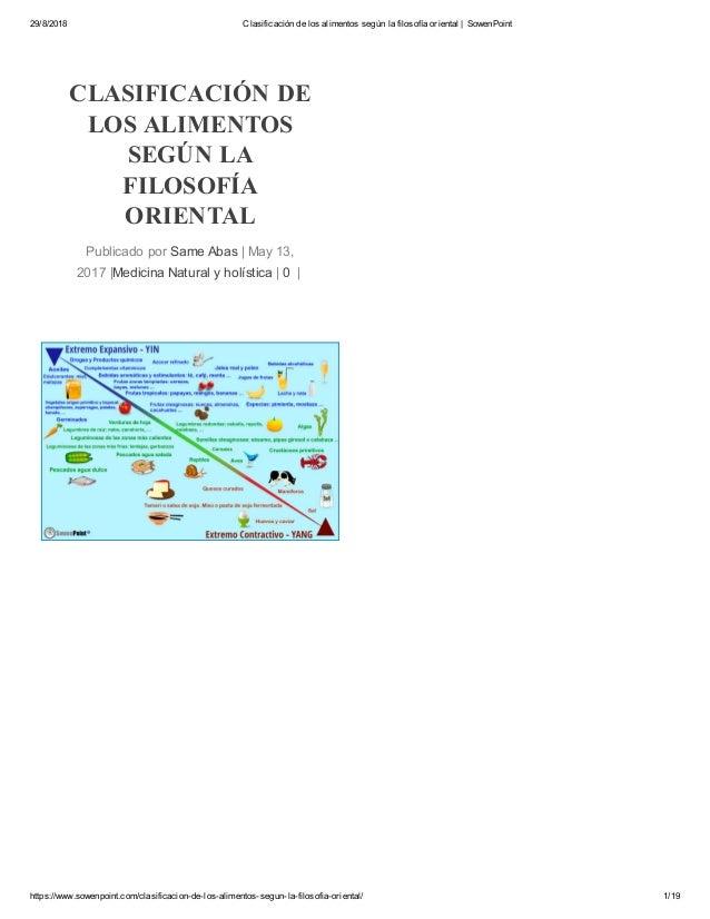 29/8/2018 Clasificación de los alimentos según la filosofía oriental | SowenPoint https://www.sowenpoint.com/clasificacion...