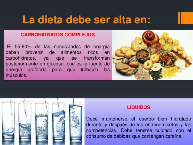 Alimentacion y dieta para deportistas