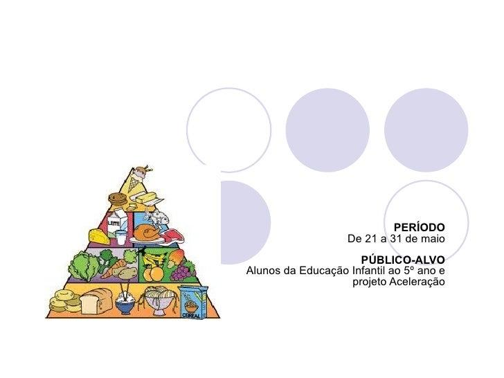 PERÍODO                   De 21 a 31 de maio                     PÚBLICO-ALVOAlunos da Educação Infantil ao 5º ano e      ...