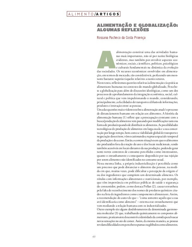 43a l i m e n t o /a r t i g o sres. From consumerism to sustainability. Washington. Other Norton/Worldwatch Books. 2010:1...