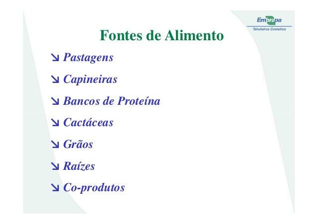 ↘ Pastagens↘ Capineiras↘ Bancos de ProteínaFontes de Alimento↘ Cactáceas↘ Grãos↘ Raízes↘ Co-produtos