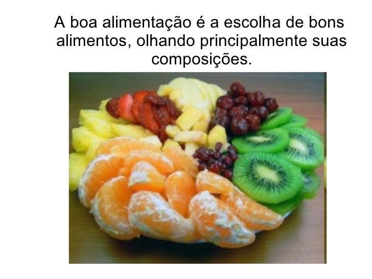 Alimentação, nutrição e saúde Slide 2