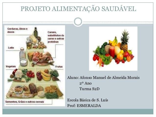 PROJETO ALIMENTAÇÃO SAUDÁVEL           Aluno: Afonso Manuel de Almeida Morais                  2º Ano                  Tur...