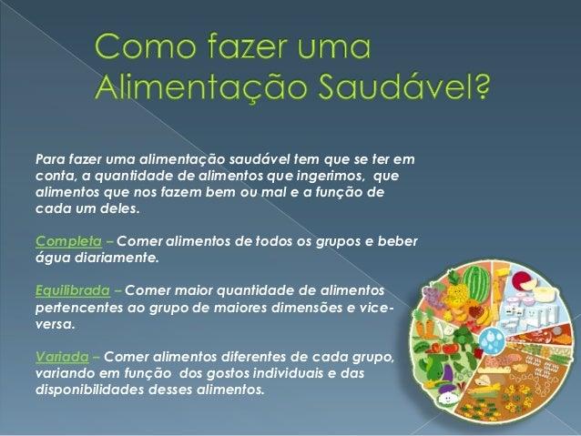 Alimentação saudável trabalho de saúde infantil Slide 3
