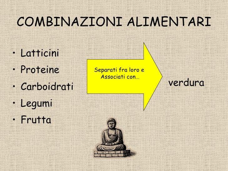 COMBINAZIONI ALIMENTARI <ul><li>Latticini </li></ul><ul><li>Proteine </li></ul><ul><li>Carboidrati </li></ul><ul><li>Legum...