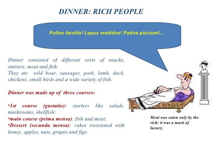 Roman Banquet Food Menu