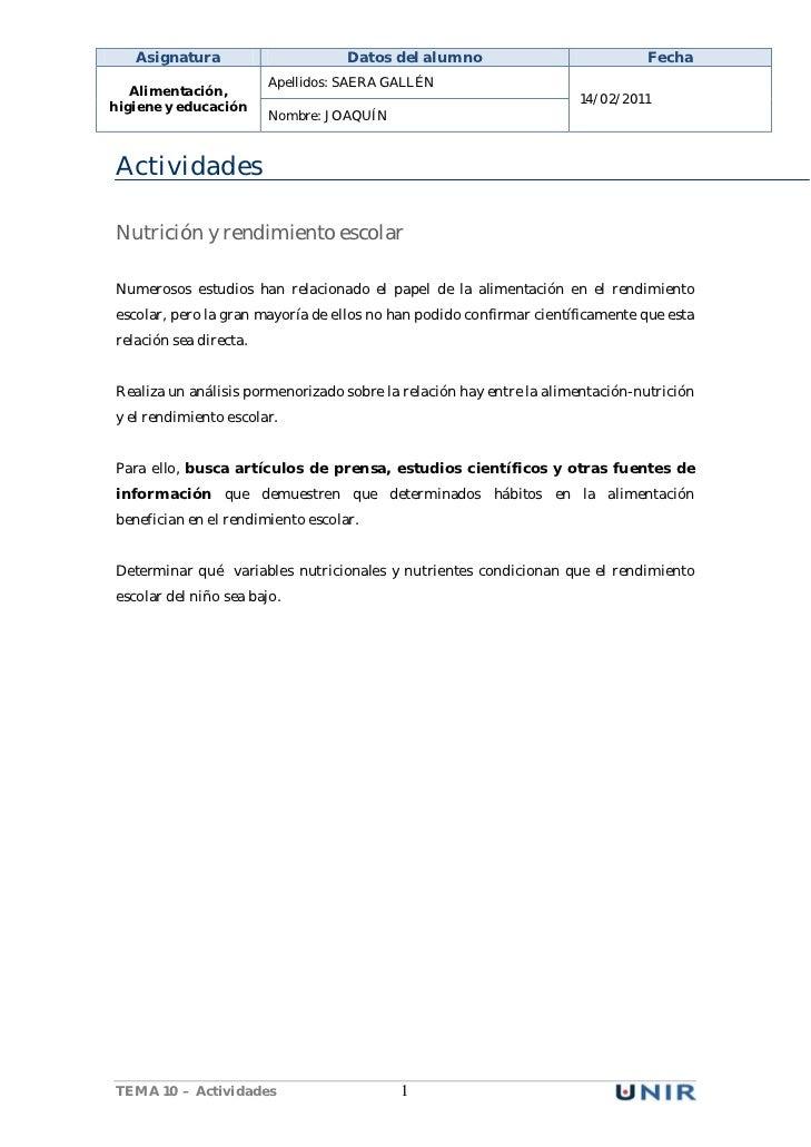 Asignatura                      Datos del alumno                            Fecha                        Apellidos: SAERA ...