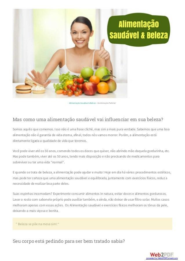 Alimentação Saudável E Beleza