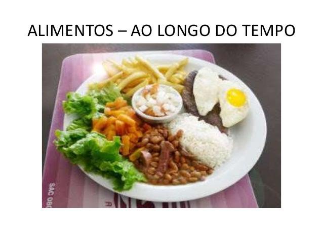 ALIMENTOS – AO LONGO DO TEMPO