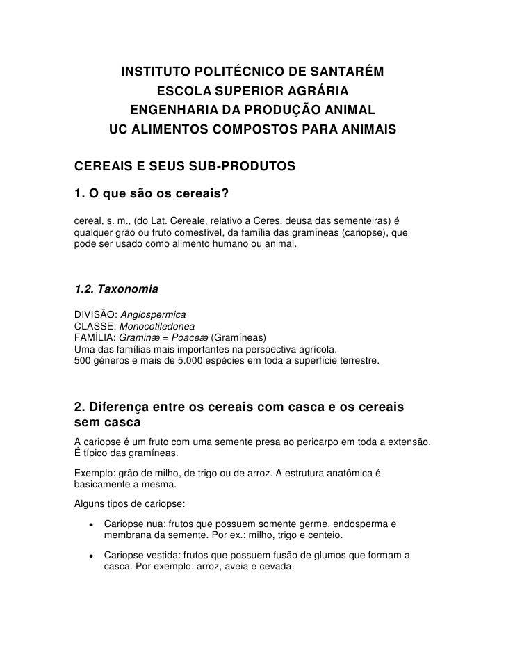 INSTITUTO POLITÉCNICO DE SANTARÉM              ESCOLA SUPERIOR AGRÁRIA           ENGENHARIA DA PRODUÇÃO ANIMAL        UC A...