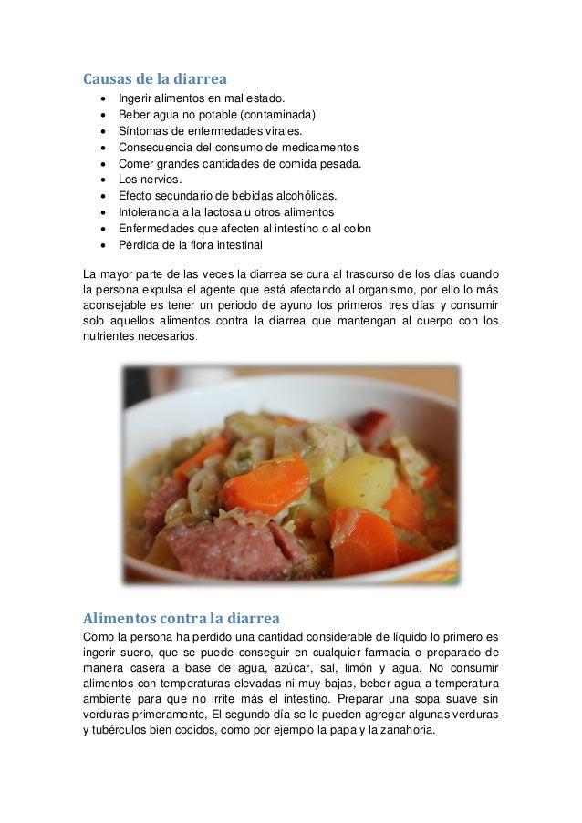 Alimentos contra la diarrea - Alimentos para evitar la diarrea ...