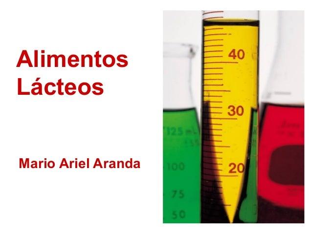 Alimentos Lácteos Mario Ariel Aranda
