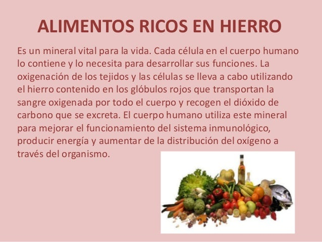 Alimentos liesel for Productos de hierro