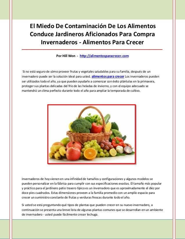 El Miedo De Contaminación De Los Alimentos     Conduce Jardineros Aficionados Para Compra         Invernaderos - Alimentos...