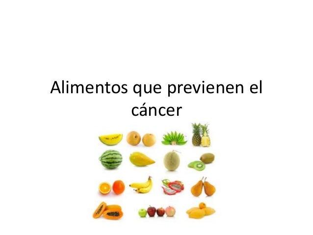 Alimentos que previenen el cancer - Alimentos previenen cancer ...