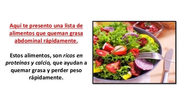 Alimentos que queman grasa y aceleran el metabolismo - Alimentos que ayudan a quemar grasa abdominal ...