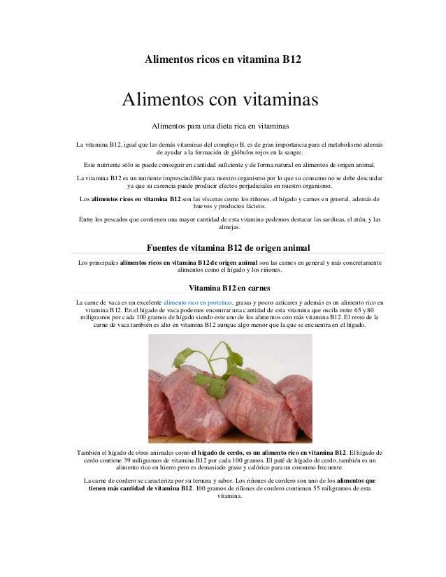 Alimentos ricos en vitamina b12 - Alimentos vitaminas b ...