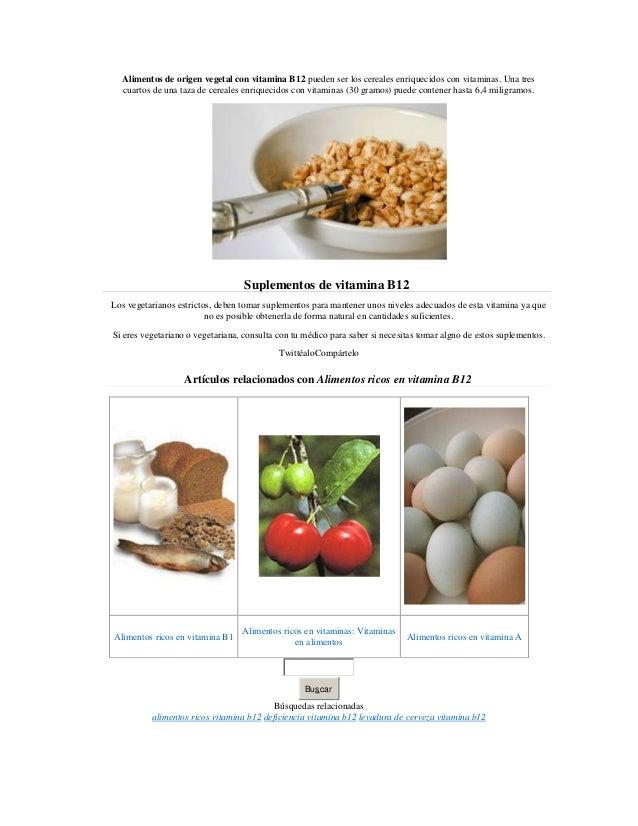 Alimentos ricos en vitamina b12 - Alimentos ricos en b1 ...