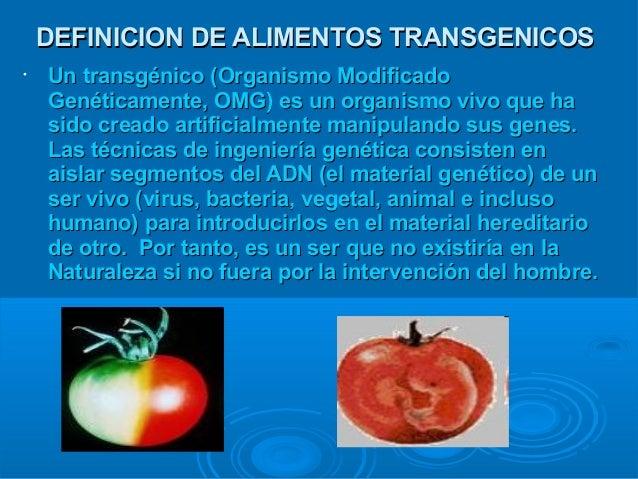 The best: ventajas y desventajas de los alimentos transgenicos yahoo dating