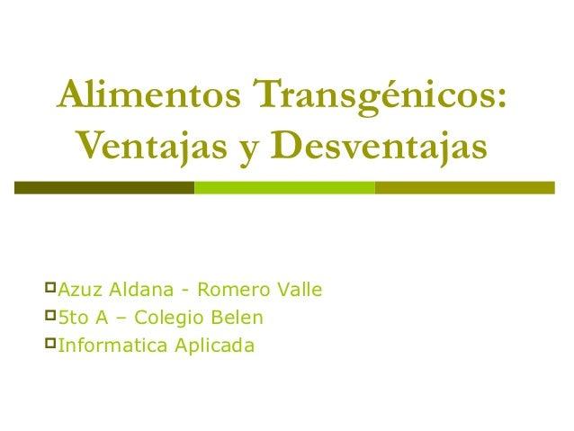Alimentos transg nicos - Ventajas alimentos transgenicos ...