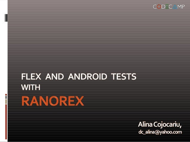 Ranorex tool – supportedtechnologies and frameworks