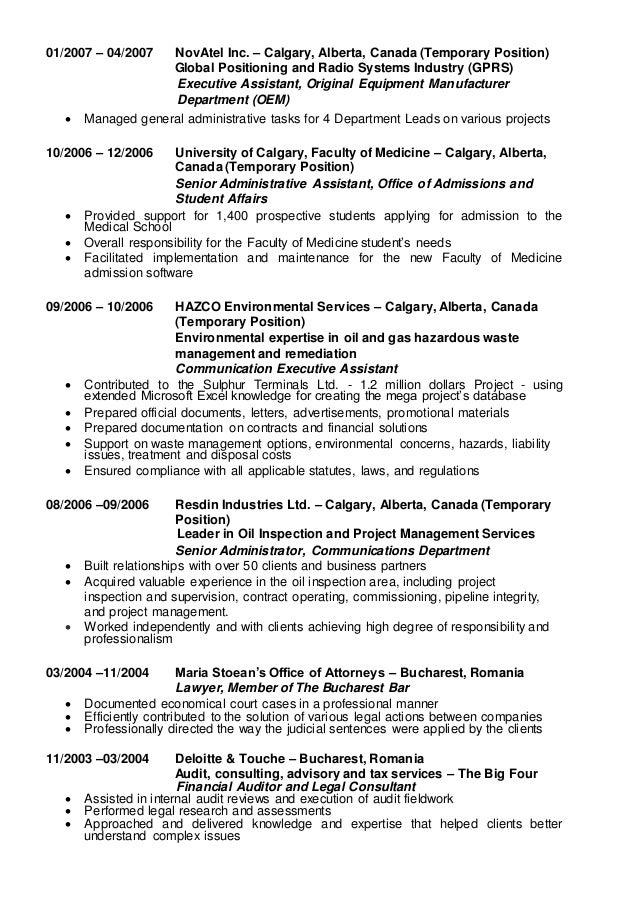 Alina Munson Resume - Malta 2016