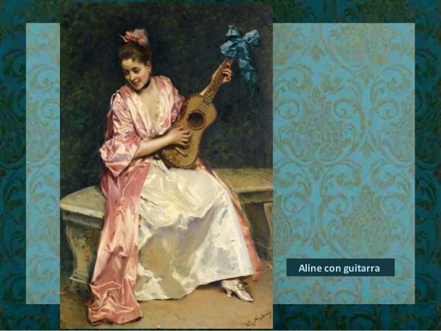Aline con guitarra