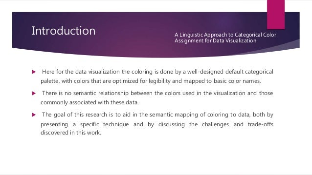 A linguistic approach to categorical color assignment  Slide 3