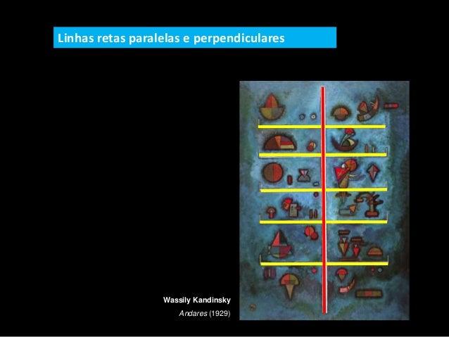 Wassily Kandinsky Andares (1929) Linhas retas paralelas e perpendiculares