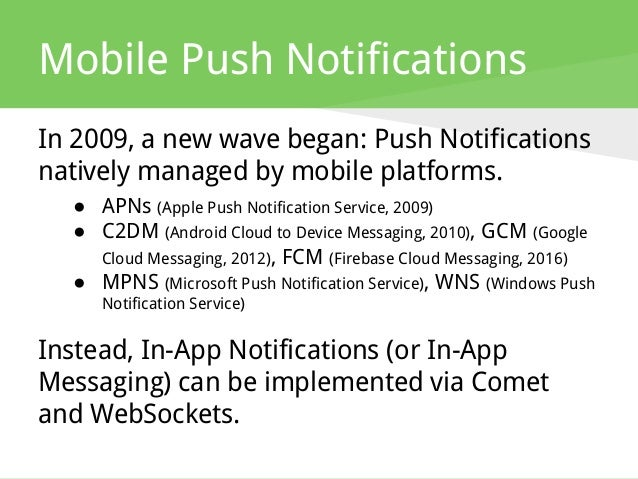 From Push Technology to Real-Time Messaging and WebSockets
