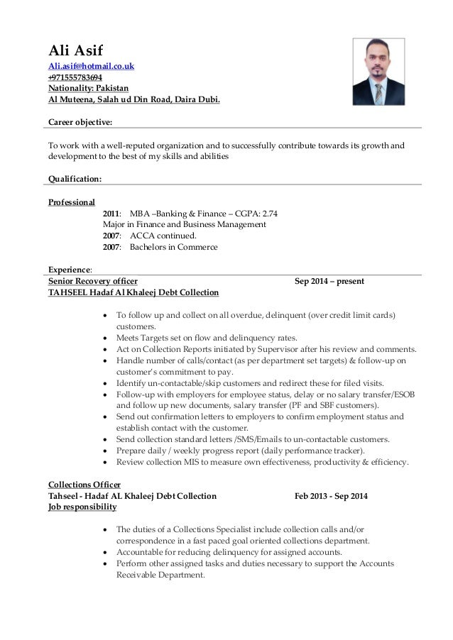 Ali Collection resume