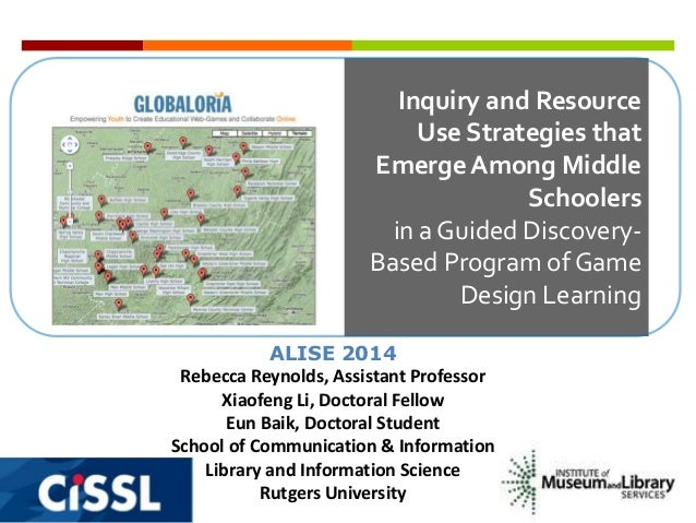 Inquiry and Resource Use Strategies that Emerge Among Middle Schoolers in a Guided DiscoveryBased Program of Game Design L...