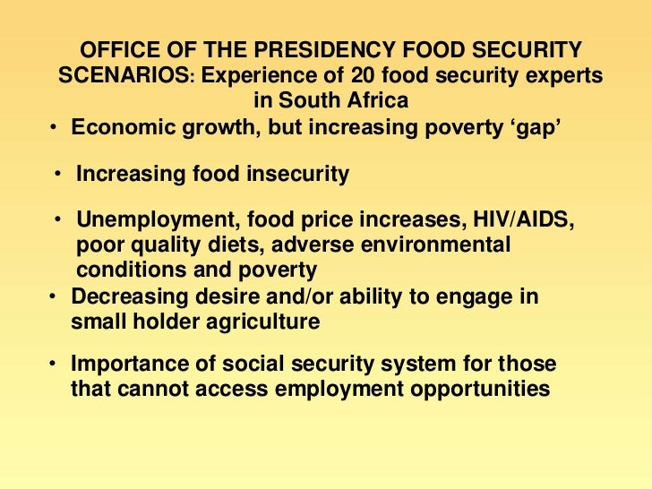 Low Food Prices Decrease Poverty
