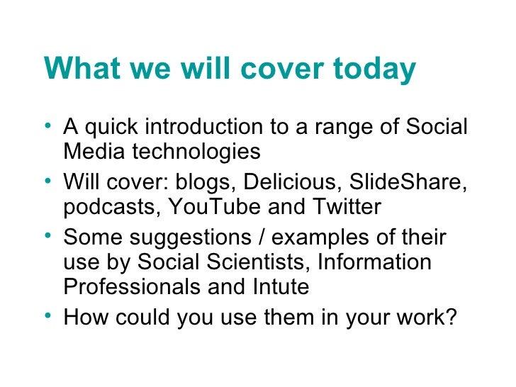 Social Media for the Social Sciences Slide 3