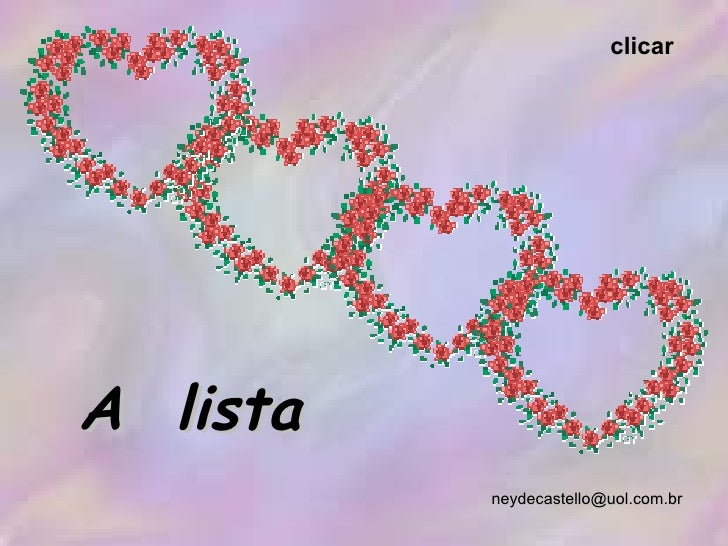 [email_address] A  lista clicar