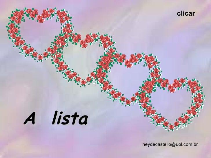 [email_address] A  lista clicar