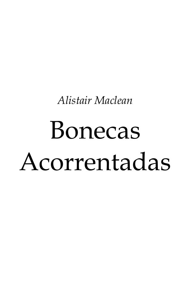 Alistair Maclean Bonecas Acorrentadas