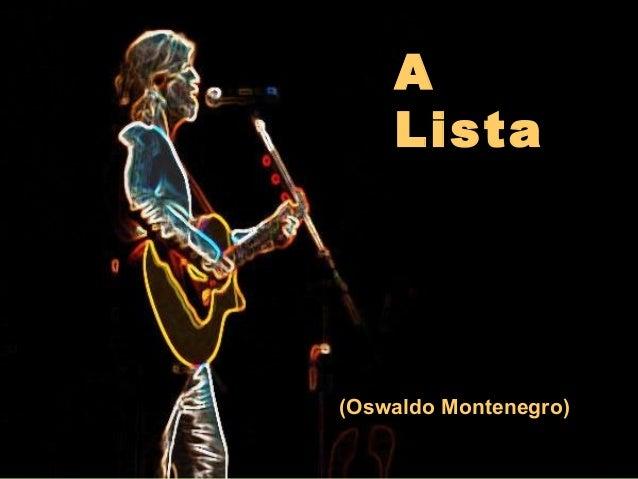 A  Lista  (Oswaldo Montenegro)