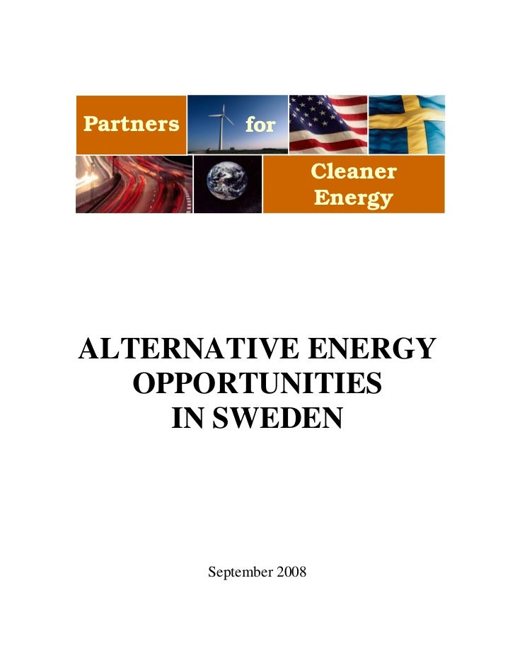 Partners        for                            Cleaner                            EnergyALTERNATIVE ENERGY   OPPORTUNITIES...