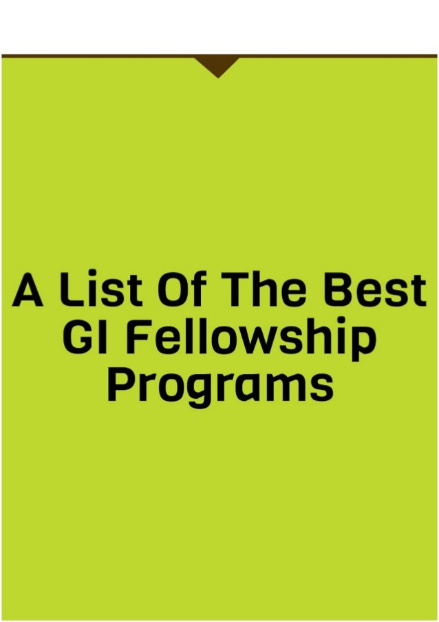 A List of The Best GI Fellowship Programs