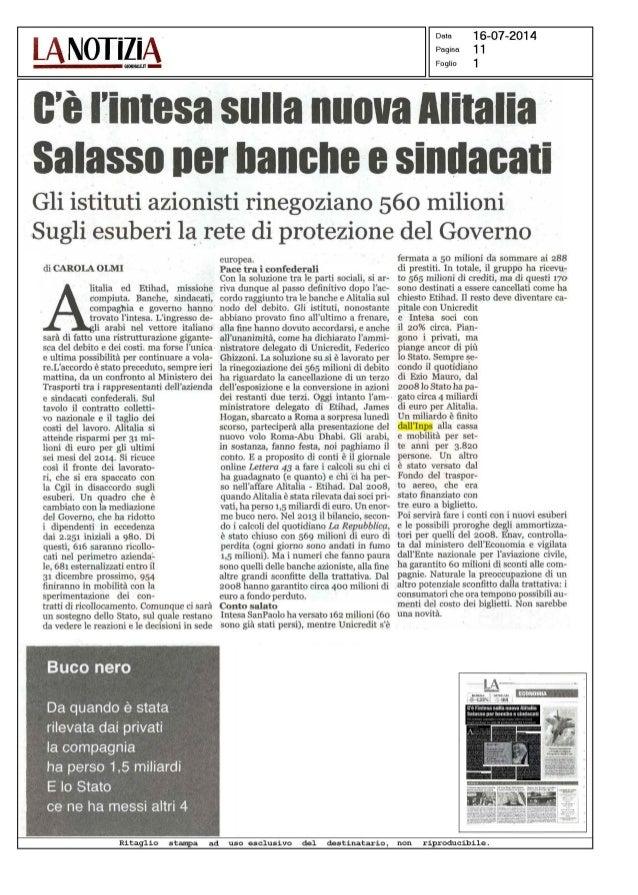 Alitalia accordo