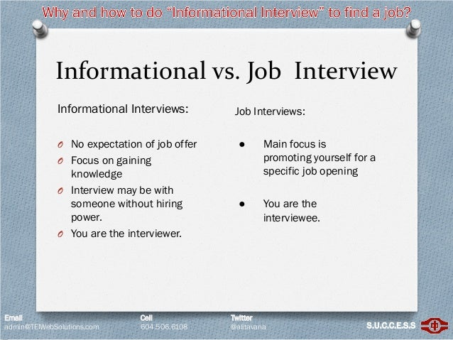 informational interview definition