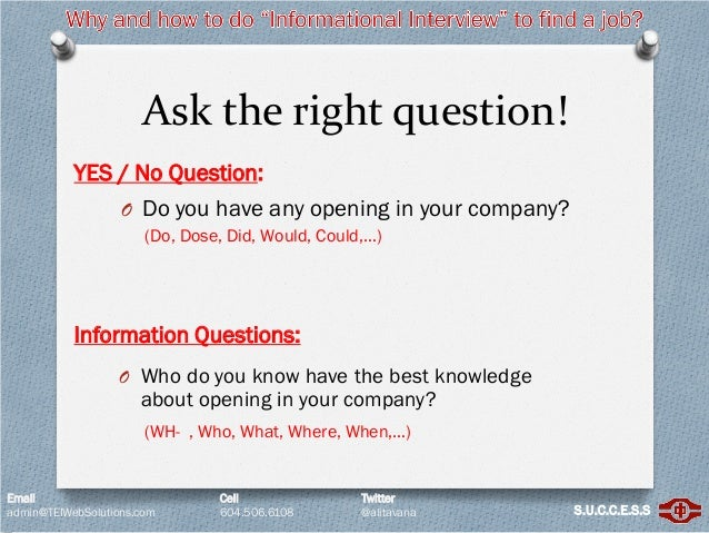 best informational interview questions