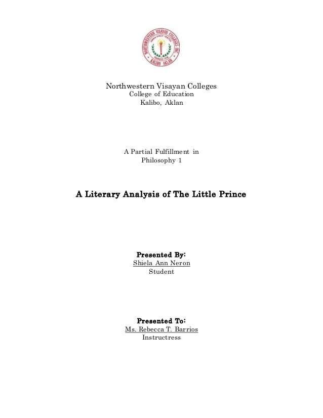 analysis of the little prince essays Analysis critical little essay the prince @nancipants after that article, the essay my bff @snarky_writer is writing got a lot more strongly-worded.
