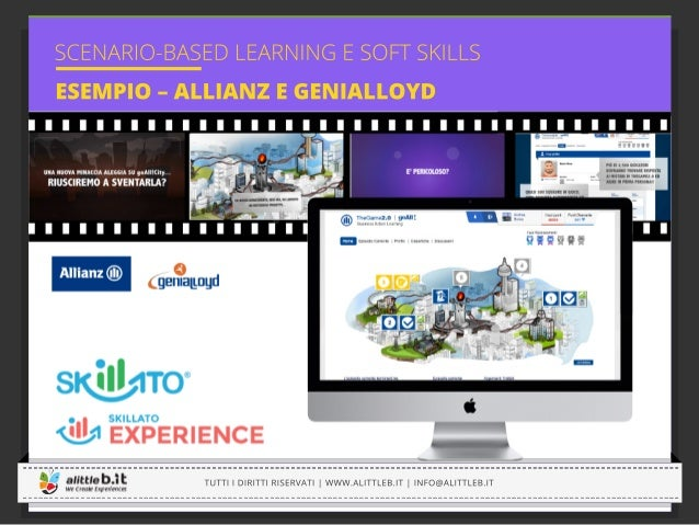 SCENARIO-BASED LEARNING C B A Andrea de carlo LEARNING TIPS Il lorem ipsum è un insieme di parole utilizzato da grafici, d...