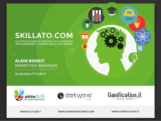 """Explore Talks on """"Videogames for Business""""- presentazione Alain Bonati"""