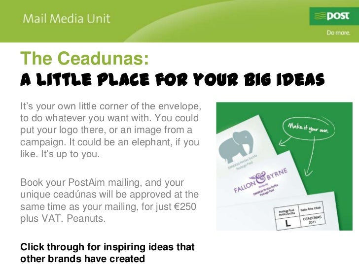 The Ceadunas:A little place for your big ideasIt's your own little corner of the envelope,to do whatever you want with. Yo...