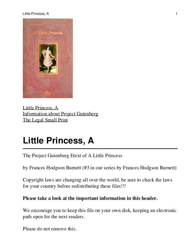 Little Princess, A                                                          1Little Princess, AInformation about Project G...