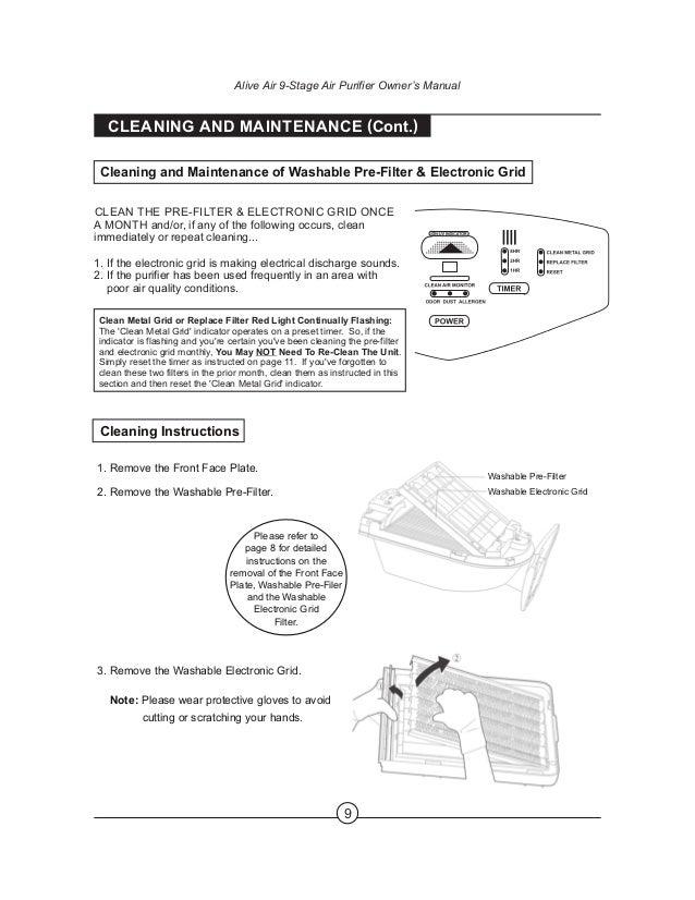 Alive air Purifier manual 2013